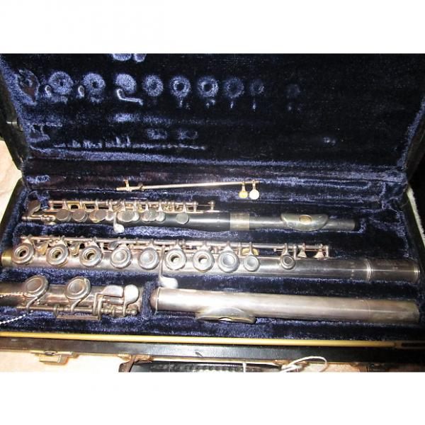 Custom vintage Artley Model 19-0 piccolo and Model 5-0 open hole flute AS IS For parts or repair project #1 image