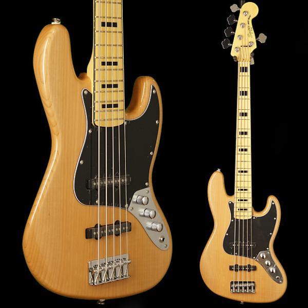 Custom Squier Vintage Modified Jazz Bass V, Maple Fingerboard 2016 Natural #1 image