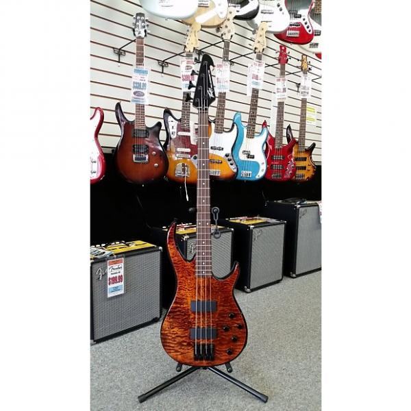 Custom Peavey Millennium 4 AC BXP 4-String Active Electric Bass Circa 2015 Transparent Tiger Eye Quilted Maple #1 image