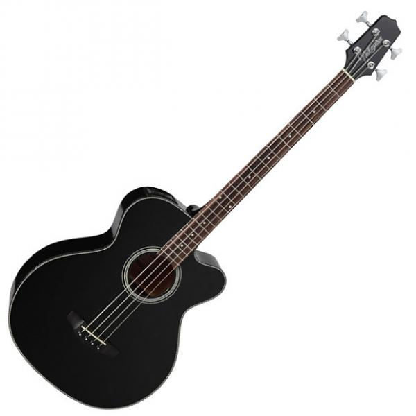 Custom Takamine GB30CE-BLK G-Series Acoustic Electric Bass in Black Finish #1 image