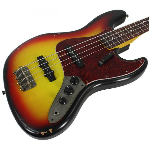 Custom Nash JB-63 Bass Guitar, 3-Tone Sunburst w/ Tortoise Shell #1 image