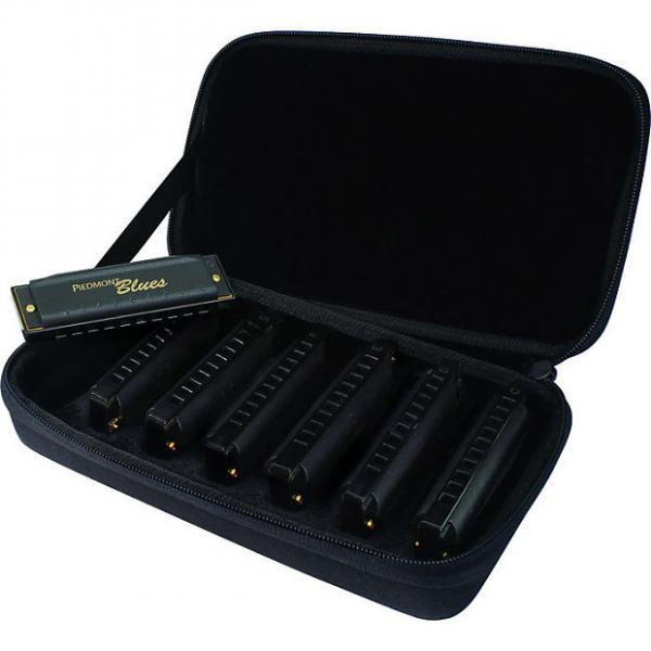 Custom Hohner Piedmont Blues Harmonica Seven Pack #1 image