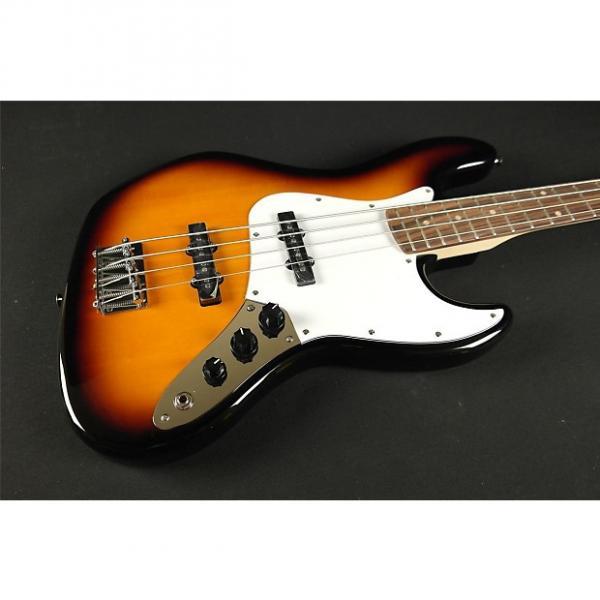 Custom Squier Affinity Jazz Bass- Rosewood Fingerboard- Brown Sunburst (87A) #1 image