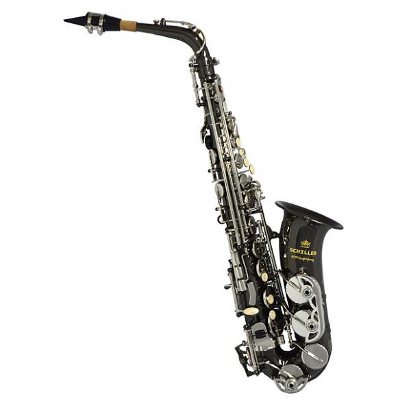 Custom Schiller American Heritage 400 Alto Saxophone - Electro-Black and Silver #1 image