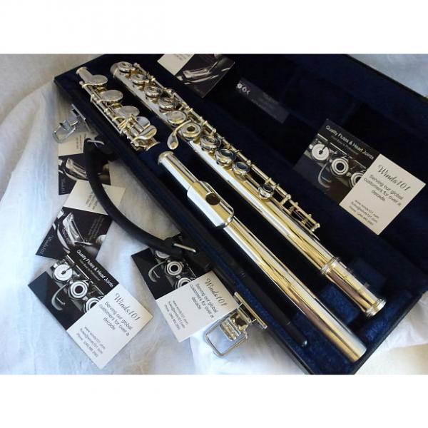 Custom Yamaha 361H Flute *Silver head joint *Open Hole *Offset G *B foot #1 image