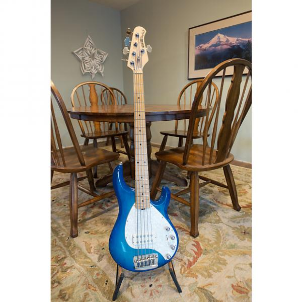 Custom Ernie Ball Music Man Classic StingRay 5 1993 Transparent Blue #1 image