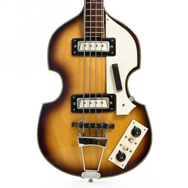 Custom BlackJack Hollow Body Short Scale Violin Bass Guitar 1960s 2-Color Sunburst #1 image
