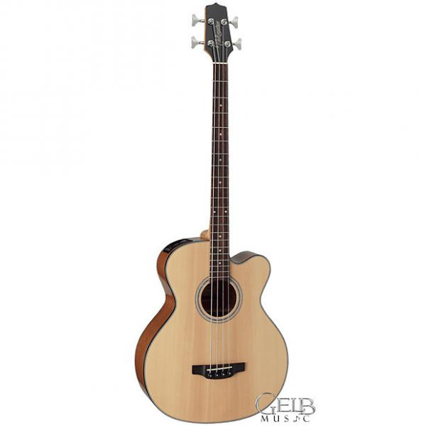 Custom Takamine Solid SpruceTop Jumbo Cutaway Acoustic/Electric Bass Guitar in Natural - GB30CE-NAT #1 image