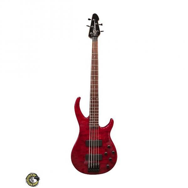 Custom Peavy Millennium BXP 5 String Red Quilt #1 image