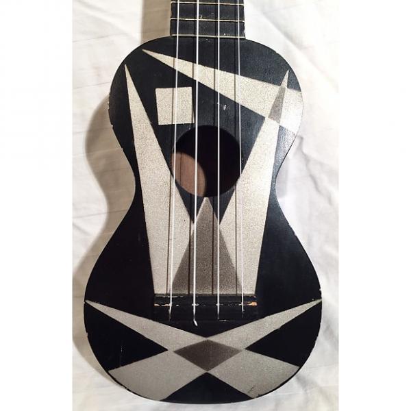 """Custom Vintage Harmony Ukulele Uke """"Art Deco"""" 1950s Black #1 image"""