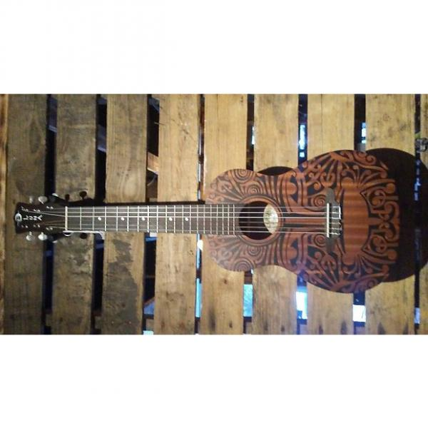 Custom Luna Uke Tribal 6 String   Tribal Mahogany #1 image