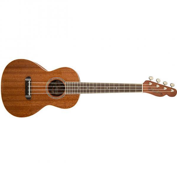 Custom Fender Ukulele Hauoli Mahogany Laminate Tenor Uke Telecaster Headstock + Gig Bag #1 image