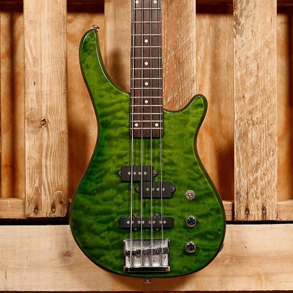 Custom JB Player Professional Series Electric Bass Guitar 2000's Transparent Green #1 image