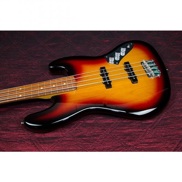 Custom Fender Jaco Pastorius Fretless Jazz Bass Guitar  3-Color Sunburst 032211 #1 image