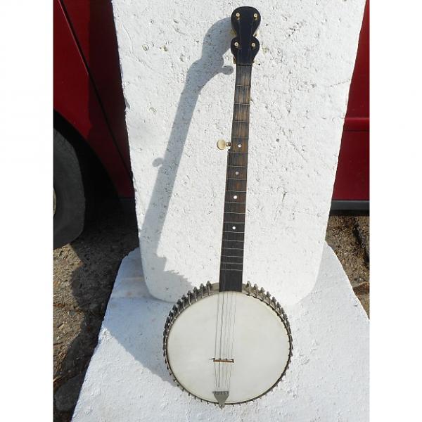 Custom Vintage 5 String Open Back Banjo, 1900, USA, 48 Hooks, Friction Pegs #1 image