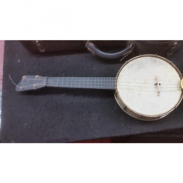 Custom American  Banjo Ukulele  With Original Hard Case  1930's Natural #1 image