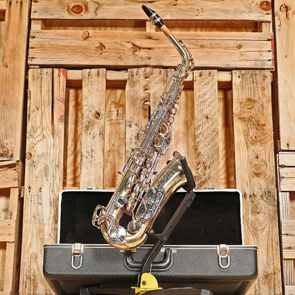 Custom Bundy II Student Alto Saxophone Outfit Brass Lacquer #1 image