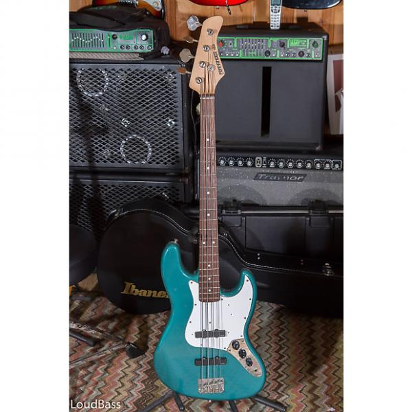 Custom Fernandes Jazz bass with EMG active pickups Made In Japan Teal Green #1 image
