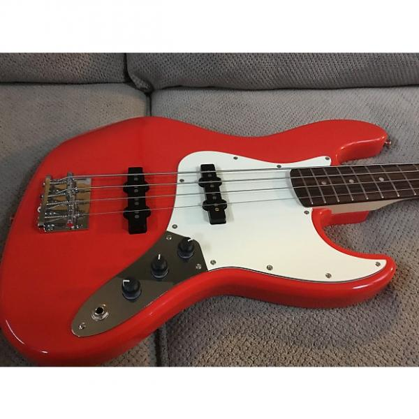 Custom Squier  Affinity Jazz Bass Race Car Red #1 image