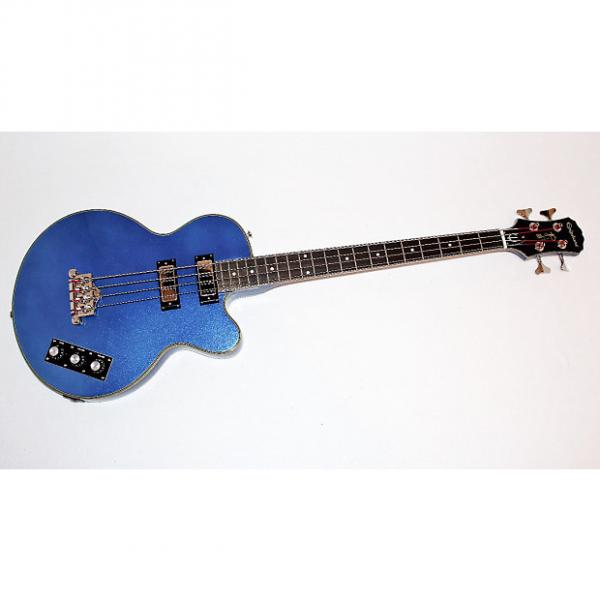 Custom Epiphone Allen Woody Rumblekat Blue 4 String Electric Bass Guitar #1 image