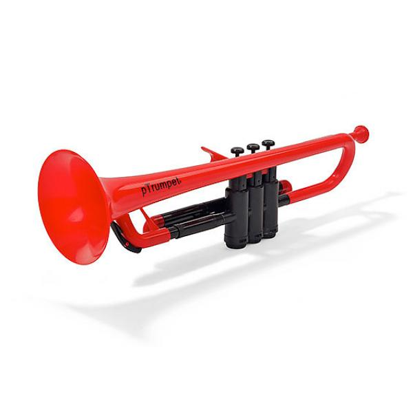 Custom PLASTIC TRUMPET RED WITH BAG & MOUTHPIECES pTRUMPET #1 image