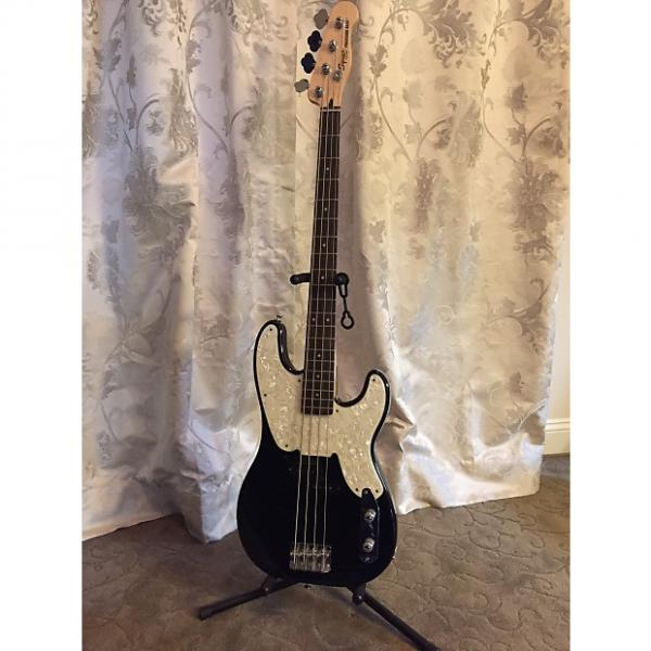 Custom Squier Mike Dirnt Precision Bass 2013 Black/white #1 image