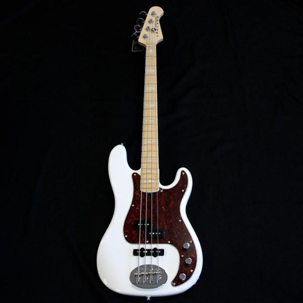 Custom Lakland Skyline 44-64 PJ White (Rare Maple Fingerboard W/ Pearl Blocks) #1 image