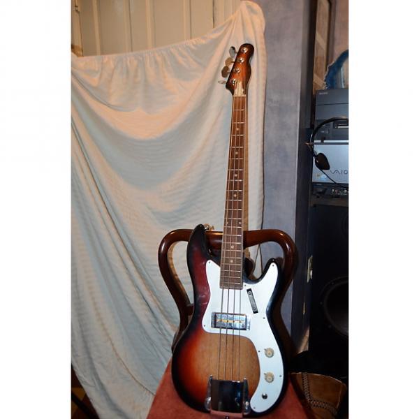 Custom no name 4 string bass guitar 60's sunburst #1 image