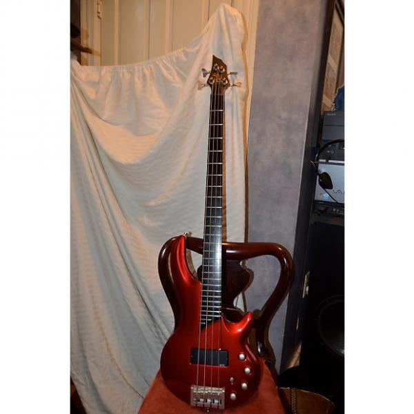 Custom conklin curbow bass guitar candy apple red #1 image