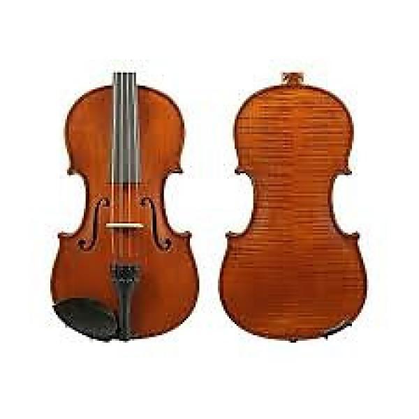 Custom Gliga I violin 4/4 size one pce back outfit, dark antique #1 image