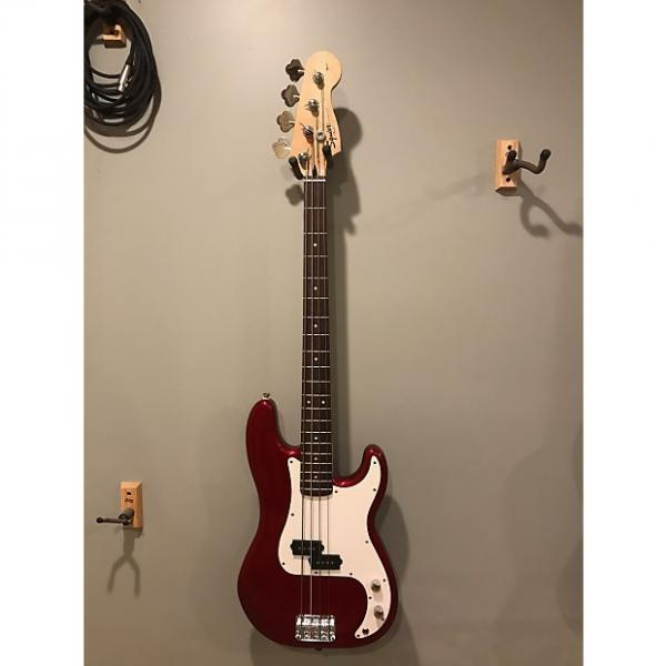 Custom Squier Affinity Precision Bass 2010 Candy Apple Red W/Soft Case and Strap #1 image