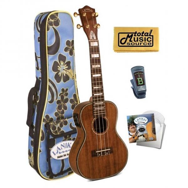 Custom Lanikai Hawaiin Concert Ukulele UkeSB USB,Gigbag,Tuner,Strings,TMS Cloth, LK-CEU COMP FB #1 image