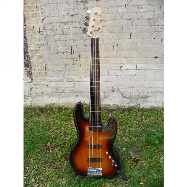 Custom Squier Deluxe Jazz Bass Active V 5-String Electric Bass Guitar #5822 MFR Refurbished #1 image