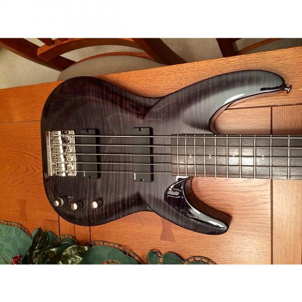 Custom DBZ Diamond BAR5FM-TBK Barchetta FM Flame Maple 5 String Bass, Trans Black  MINT #1 image