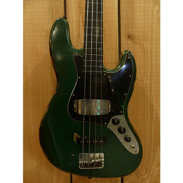 Custom Stevie G JAZZ BASS FRETLESS 2013 Sherwood Green Hard Relic #1 image