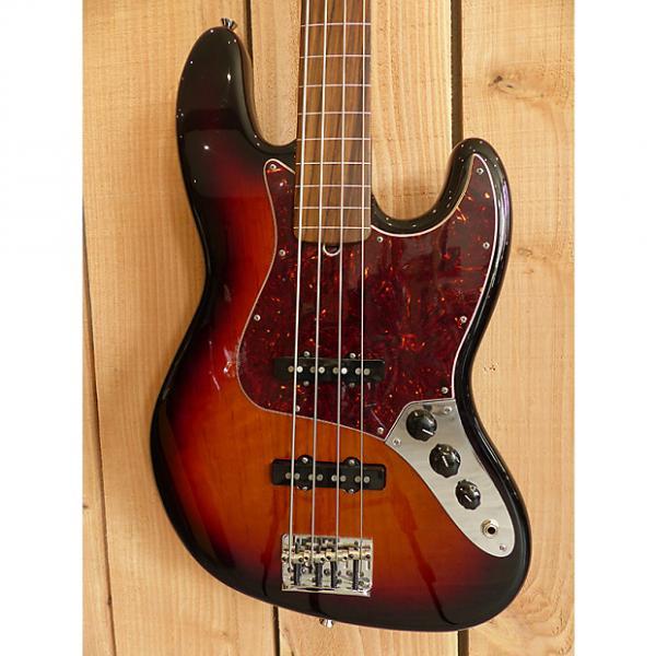 Custom Fender American Standard Jazz Bass Fretless 2013 3 Tone Sunburst #1 image