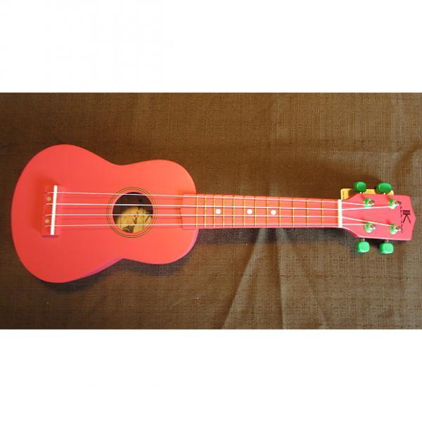 Custom Kaka'ako Beginner Ukulele - Soprano - Watermelon Red Matte Finish - Basswood Ukulele - Hawaii #1 image