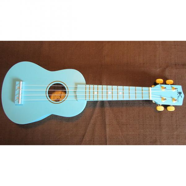 Custom Kaka'ako Beginner Ukulele - Soprano - Light Blue Matte Finish - Basswood Ukulele - Hawaii #1 image
