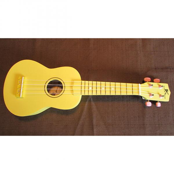 Custom Kaka'ako Beginner Ukulele - Soprano - Yellow Matte Finish - Basswood Ukulele - Hawaii #1 image