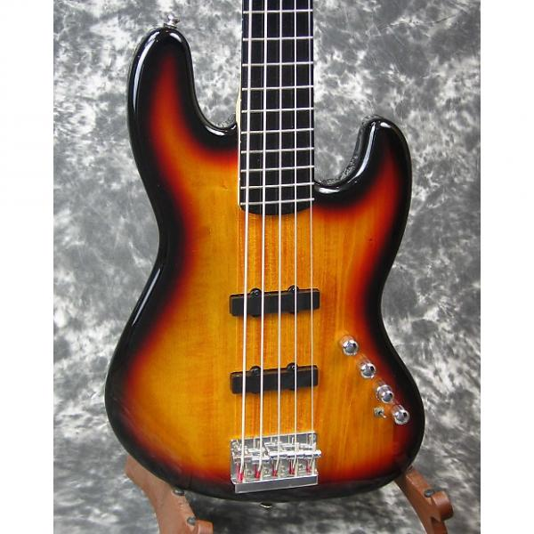 Custom VG used Fender Squier Deluxe Jazz Bass V Active electric bass guitar #1 image