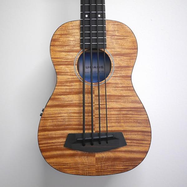 Custom Kala Exotic Mahogany U-Bass w/bag 2017 Natural #1 image