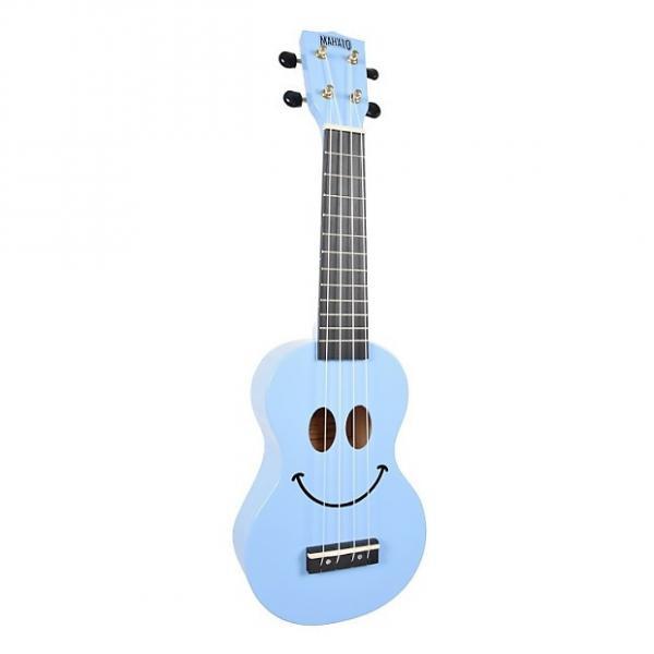 Custom Mahalo Smile Light Blue Soprano Ukulele #1 image