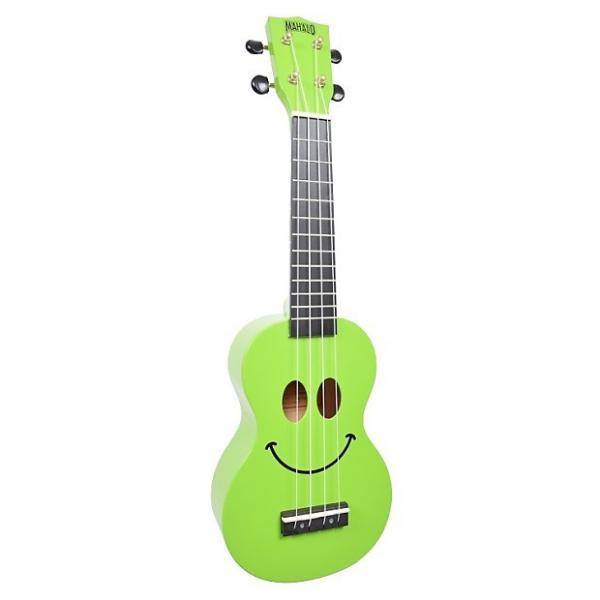 Custom Mahalo Smile Green Soprano Ukulele #1 image