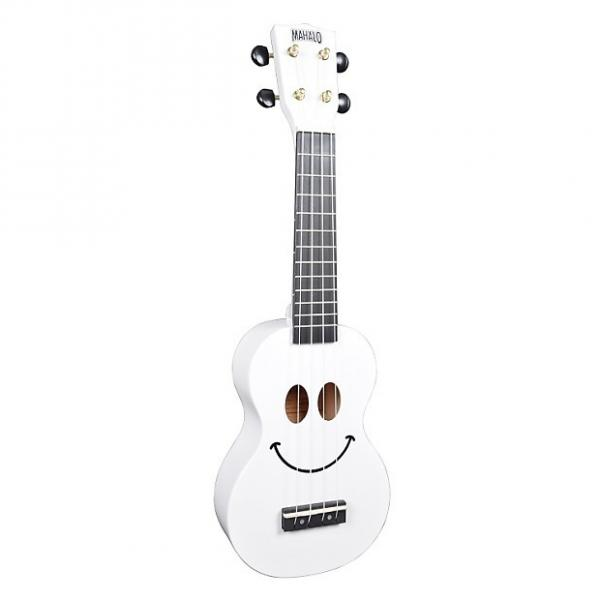 Custom Mahalo Smile White Soprano Ukulele #1 image
