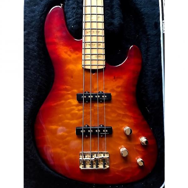 Custom Fender American Deluxe Jazz Bass FMT 2002 Red Sunburst #1 image