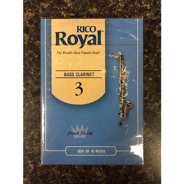 Custom Rico Royal French Cut Bass Clarinet Reeds box 10 - 3 #1 image