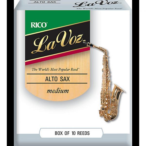 Custom Rico La Voz Alto Sax Reed Medium Box 10 #1 image