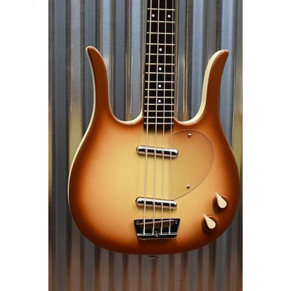 Custom Danelectro Longhorn Copper Burst Electric Bass Guitar Demo #2390 #1 image