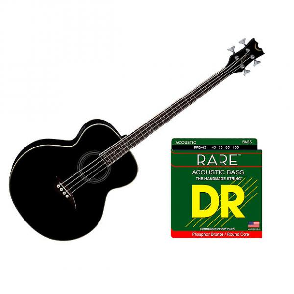 Custom Dean Guitars EAB 4-String Acoustic-Electric Bass Guitar - Classic Black w/Strings #1 image