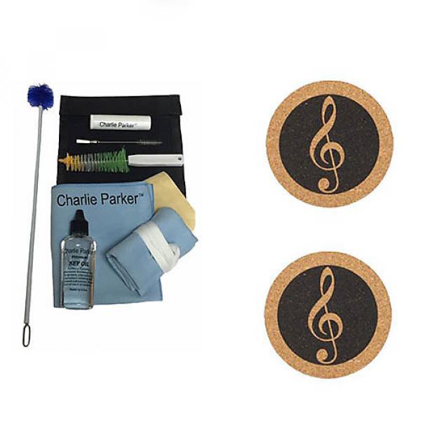 Custom Charlie Parker Paramount Series Tenor Saxophone Care & Cleaning Kit w/Music Coaster 2 Pk #1 image